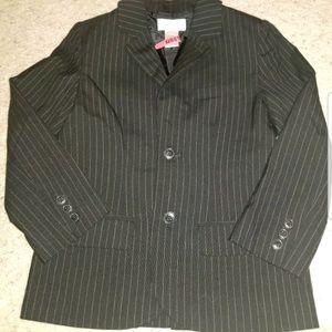 Janie and jack boys 6 black pinstripe blazer suit